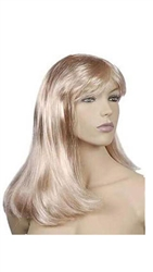 Platinum Blonde Long Hair Female Mannequin Wig