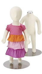 3 Month Old Flexible Child Mannequin Child Mannequin made of Bendable Fabric & Foam in white. Very durable and excellent for high-traffic areas or trade shows.