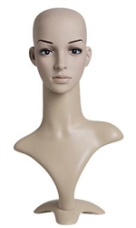 Realistic Female Plastic Display Head