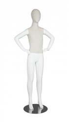 Linen Mixed Fabric Teenage Mannequin Hands on Hips