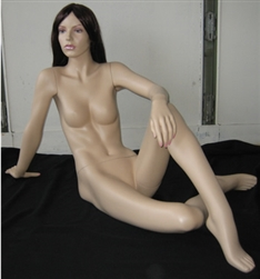 Realistic Female Mannequin - Reclining Seated Pose