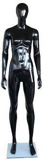Glossy black female abstract mannequin