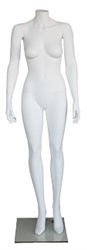 "Matte White 5' 4"" Headless Female Mannequin"