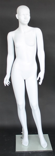 Matte White Abstract Female Mannequin 10/11 Years Old