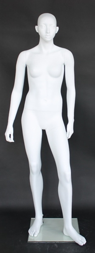 Matte White Egghead Female Mannequin Teenage 15/16 Years Old