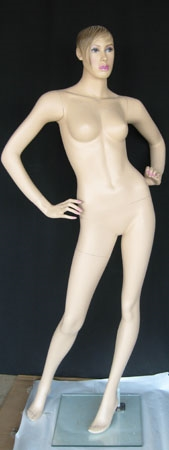 Realistic Light Fleshtone Female Mannequin - Hands on Hips