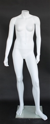 Matte White Female Headless Mannequin Small Adult or Junior 5' Height