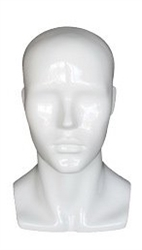 Gloss White Male Fiberglass Display Head