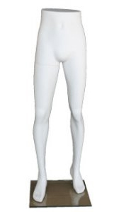Matte White Mens Half Body Leg Display