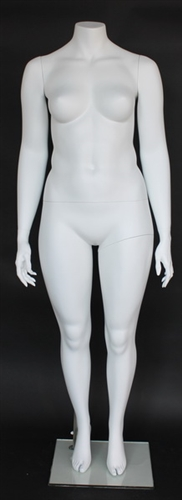Matte White Female Headless Mannequin Plus Size