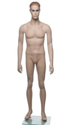 "Fleshtone 5'8"" Male Mannequin with Realistic Facial Features Available From Zing Display"