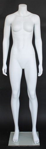 Matte White Female Headless Mannequin 5'5""