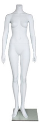"Matte White Female Headless Mannequin 5'3"" Height"