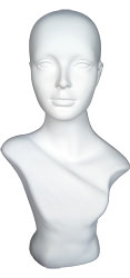 Glossy White Female Mannequin Display Form