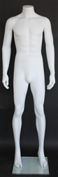 "Matte White Male Headless Mannequin 5'8"" Height"