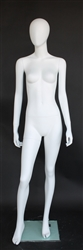 "Matte White Female Egghead Mannequin 5'9"" Height"