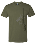 Best of the West T shirt Green with RIfle