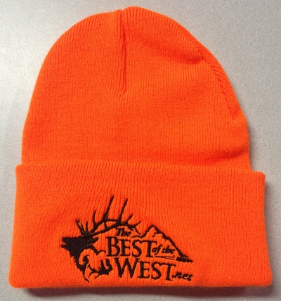 Blaze Orange Stocking Cap with BOTW logo. Larger Photo ... 46226a40487