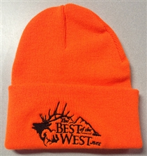 Blaze Orange Stocking Cap with BOTW logo