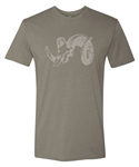 Huskemaw Optics T-shirt Stone Gray Ram