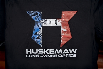 Huskemaw T-shirt with Red, White, Blue Logo