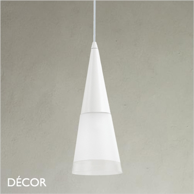 CONO PENDANT LIGHT, WHITE