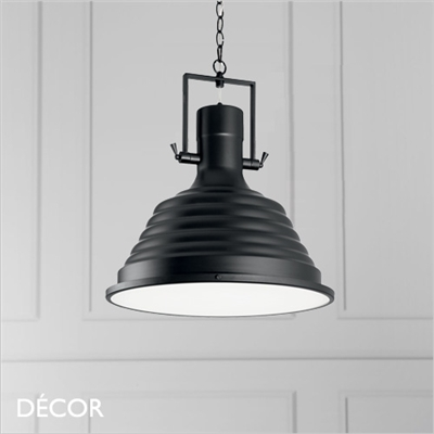 FISHERMAN PENDANT LIGHT, BLACK