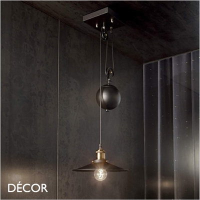 UP AND DOWN PENDANT LIGHT, BLACK, SINGLE
