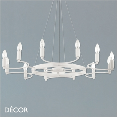 SPACE CHANDELIER, 12 ARM, WHITE
