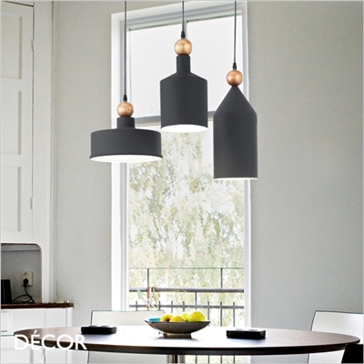 TRIADE MULTIPLE PENDANT LIGHT, BLACK