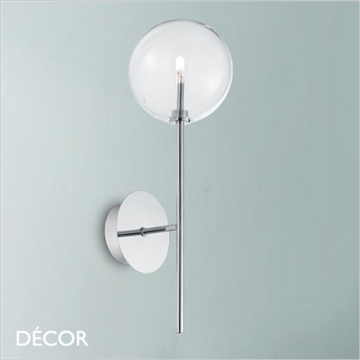 EQUINOXE WALL LIGHT, POLISHED CHROME