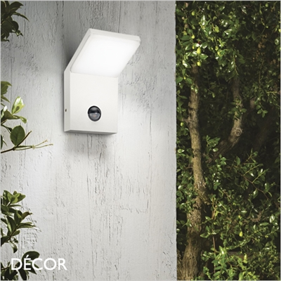 STYLE WITH SENSOR OUTDOOR WALL LIGHT, LED, WHITE