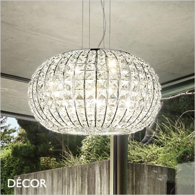 CALYPSO PENDANT LIGHT, 3 SIZES, CHROME