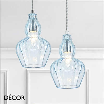 EUSTOMA PENDANT LIGHT, BLUE