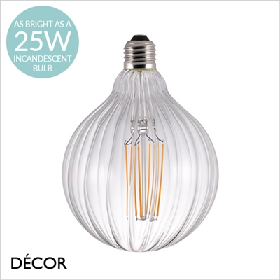 AVRA STRIBES DESIGNER BULB, E27 2W LED FILAMENT