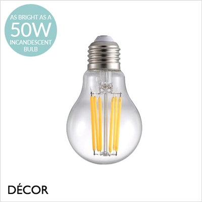 E27 8.8W LED FILAMENT DESIGNER BULB, DIMMABLE