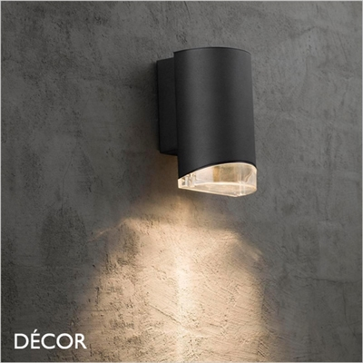 ARN, OUTDOOR WALL LIGHT, BLACK, WATER & MOISTURE RESISTANT