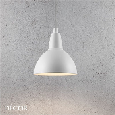 TRUDE PENDANT LIGHT, WHITE