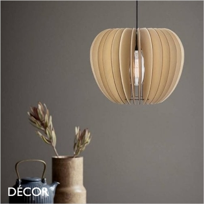 TRIBECA 38 PENDANT LIGHT, LIGHT WOOD