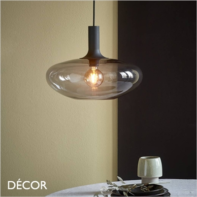 ALTON 35 PENDANT LIGHT, SMOKED GREY GLASS