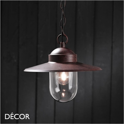 LUXEMBOURGE PENDANT LIGHT, RUST FINISH