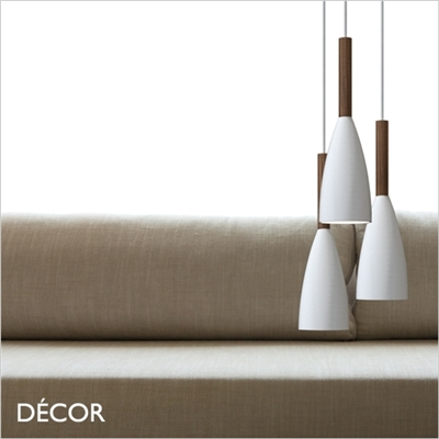 PURE PENDANT LIGHT, WHITE & WALNUT