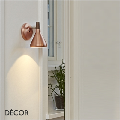 FLOAT WALL LIGHT, BRUSHED COPPER