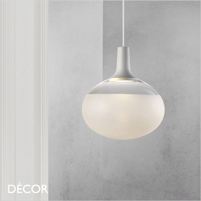DEE GLASS PENDANT LIGHT, WHITE