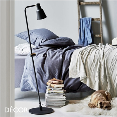 PATTON FLOOR LAMP, DIMMABLE, BLACK