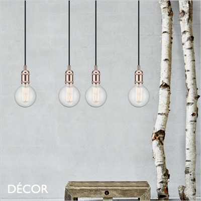 AVRA SUSPENSION LIGHT FITTING, COPPER