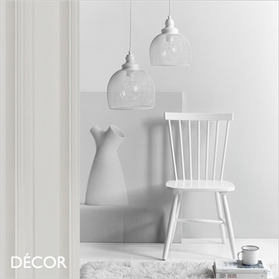 ELDR 25 & ELDR 30 PENDANT LIGHT, WHITE