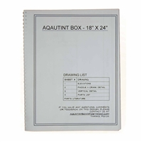 Aquatint Box Blue Print Set