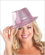 Pink Sequin Fedora Hat