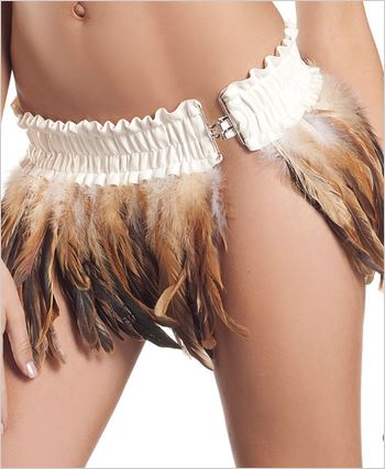 Brown Feather Skirt